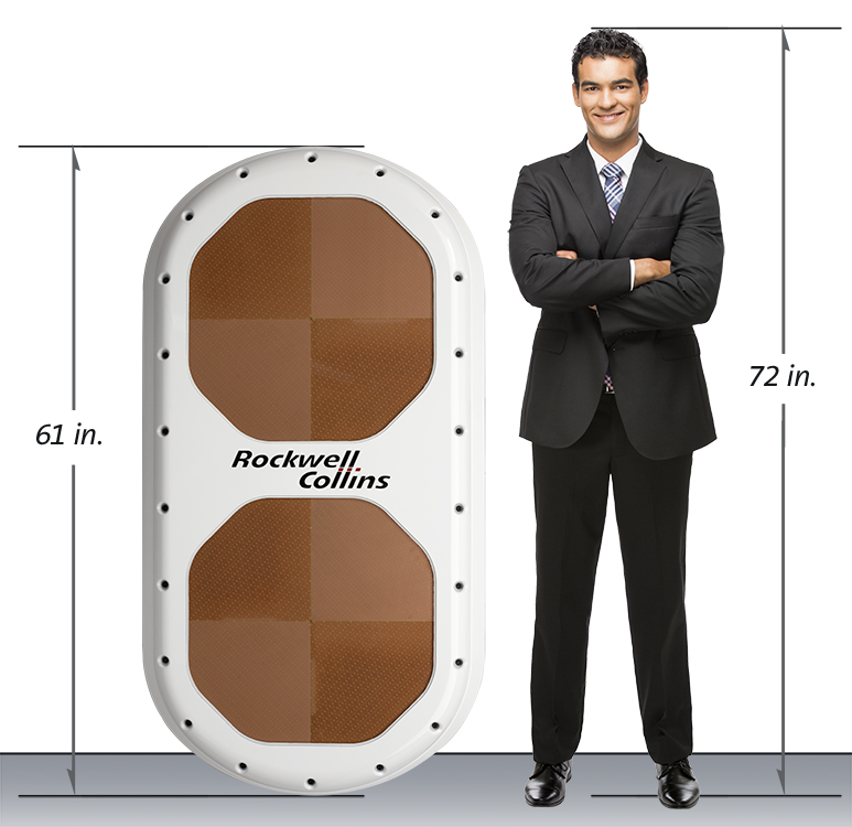 Rockwell Collins' ESA Antenna. Image: Rockwell Collins